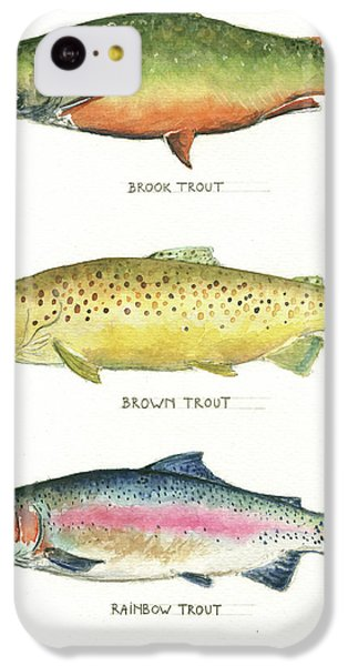 Trout iPhone 5c Case - Trout Species by Juan Bosco