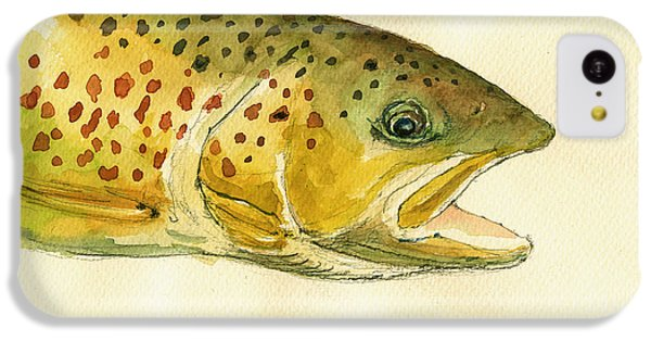 Trout Watercolor Painting IPhone 5c Case by Juan  Bosco