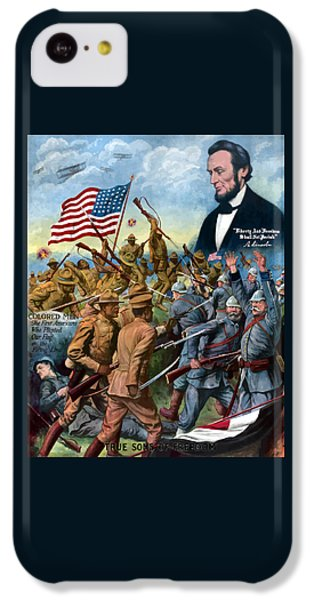 Abraham Lincoln iPhone 5c Case - True Sons Of Freedom -- Ww1 Propaganda by War Is Hell Store
