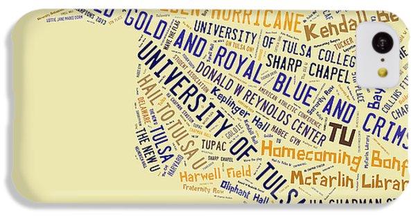 Tu Word Art University Of Tulsa IPhone 5c Case by Roberta Peake