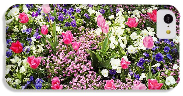 Tulips And Other Colorful Flowers In Spring IPhone 5c Case by Matthias Hauser