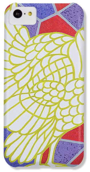Turkey On Stained Glass IPhone 5c Case by Pat Scott