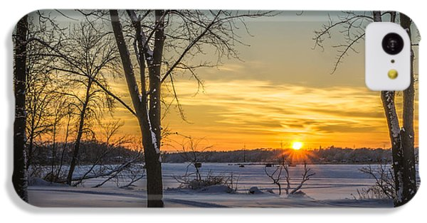 Turn Left At The Sunset IPhone 5c Case by Randy Scherkenbach
