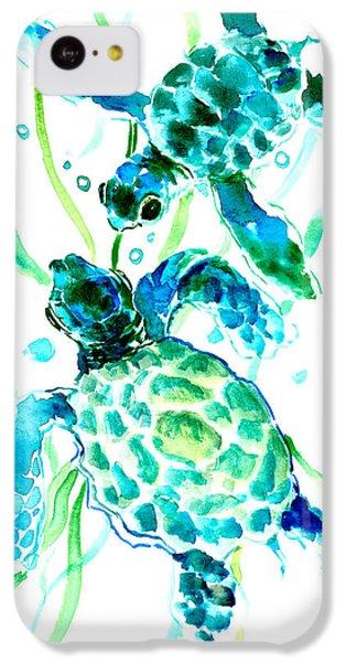 Turquoise Indigo Sea Turtles IPhone 5c Case