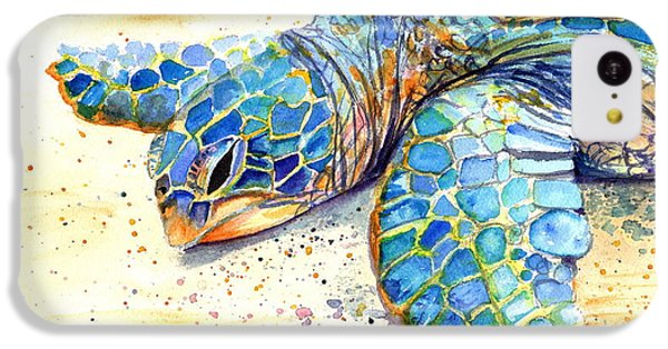 Turtle iPhone 5c Case - Turtle At Poipu Beach 4 by Marionette Taboniar