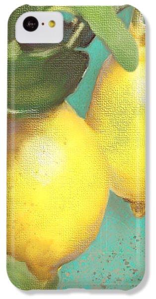 Tuscan Lemon Tree - Citrus Limonum Damask IPhone 5c Case by Audrey Jeanne Roberts