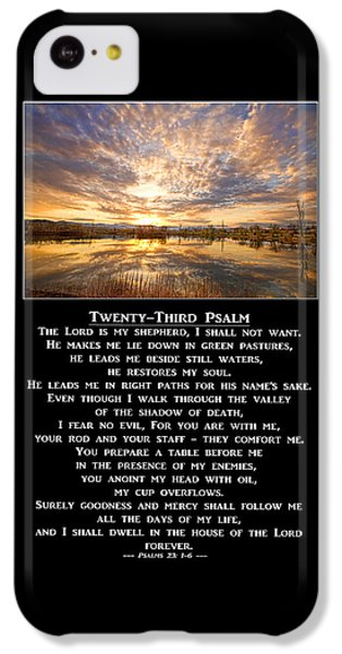 Twenty-third Psalm Prayer IPhone 5c Case