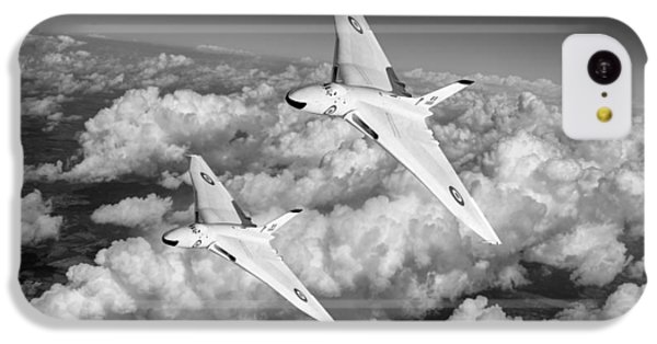 IPhone 5c Case featuring the photograph Two Avro Vulcan B1 Nuclear Bombers Bw Version by Gary Eason
