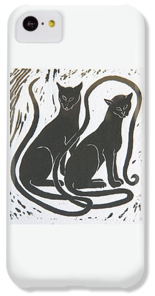 Two Black Felines IPhone 5c Case by Nareeta Martin