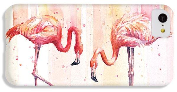 Two Flamingos Watercolor IPhone 5c Case