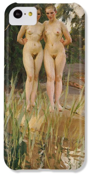 Nudes iPhone 5c Case - Two Friends  by Anders Leonard Zorn