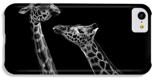 Two Giraffes In Black And White IPhone 5c Case