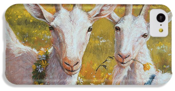 Two Goats Of Summer IPhone 5c Case by Tracie Thompson