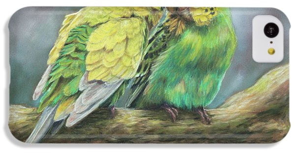 Parakeet iPhone 5c Case - Two Of A Kind by Kirsty Rebecca