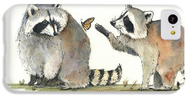 Two Raccoons IPhone 5c Case by Juan Bosco