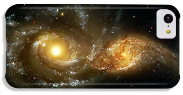 Two Spiral Galaxies IPhone 5c Case