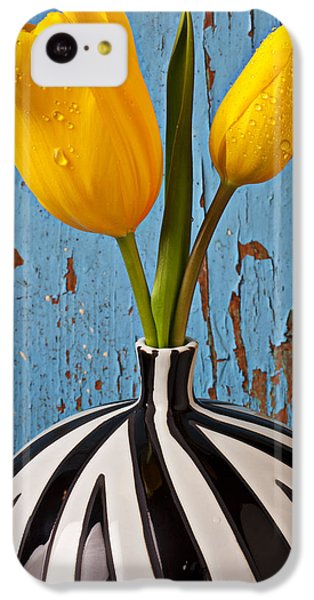 Two Yellow Tulips IPhone 5c Case by Garry Gay