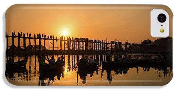 Burmese Python iPhone 5c Case - U Bein Bridge At Sunset by Delphimages Photo Creations