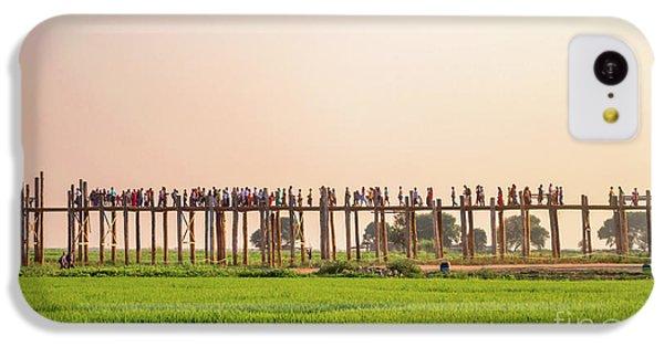Burmese Python iPhone 5c Case - U Bein Bridge by Delphimages Photo Creations
