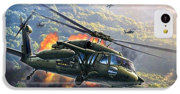 Helicopter iPhone 5c Case - Uh-60 Blackhawk by Stu Shepherd