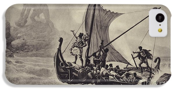 Cyclops iPhone 5c Case - Ulysses Deriding The Cyclops by Louis-Frederic Schutzenberger