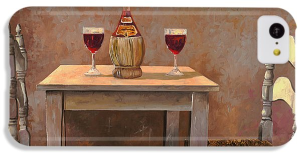 un fiasco di Chianti IPhone 5c Case by Guido Borelli
