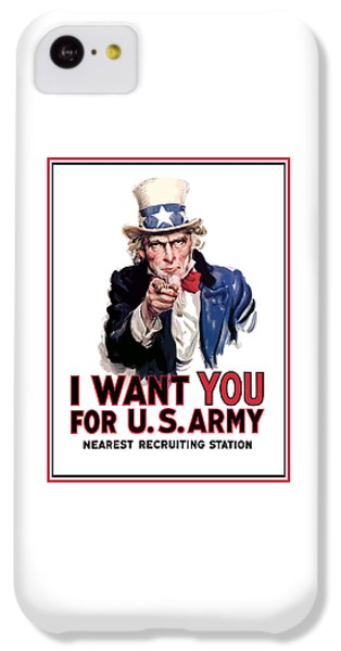 Landmarks iPhone 5c Case - Uncle Sam -- I Want You by War Is Hell Store