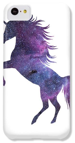 Unicorn In Space-transparent Background IPhone 5c Case