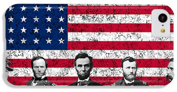 Union Heroes And The American Flag IPhone 5c Case by War Is Hell Store