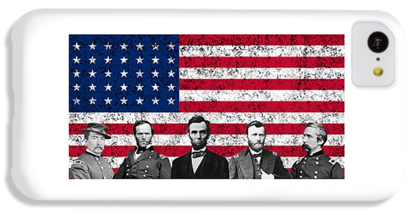 Abraham Lincoln iPhone 5c Case - Union Heroes And The American Flag by War Is Hell Store