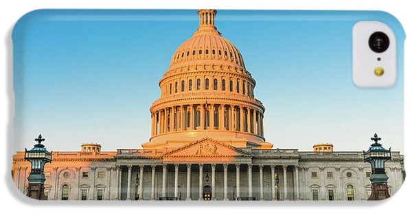 Lincoln Memorial iPhone 5c Case - United States Capitol  by Larry Marshall