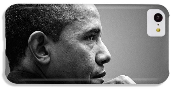 United States President Barack Obama Bw IPhone 5c Case by Celestial Images