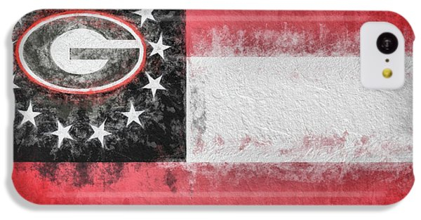 IPhone 5c Case featuring the digital art University Of Georgia State Flag by JC Findley