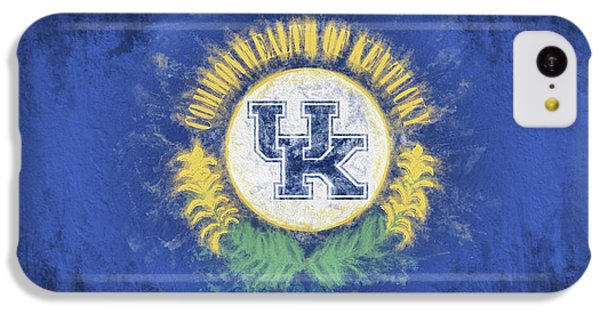 IPhone 5c Case featuring the digital art University Of Kentucky State Flag by JC Findley