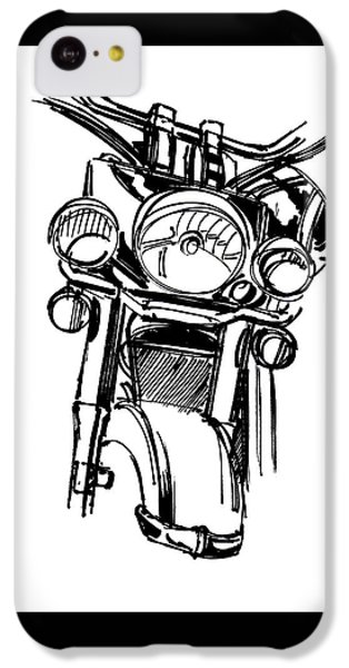 Urban Drawing Motorcycle IPhone 5c Case by Chad Glass