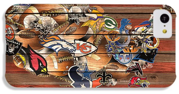 Usa Nfl Map Collage 6 IPhone 5c Case