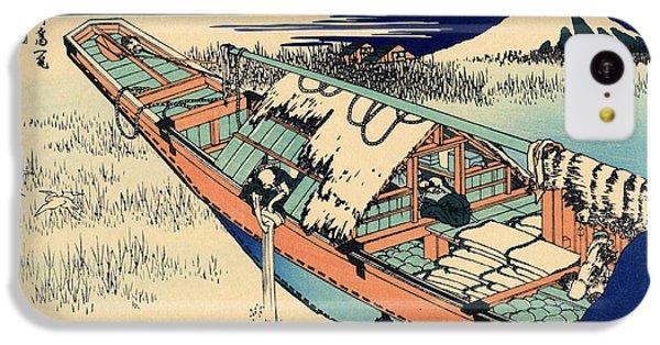 Ushibori In The Hitachi Province IPhone 5c Case by Hokusai