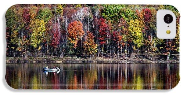 Vanishing Autumn Reflection Landscape IPhone 5c Case by Christina Rollo
