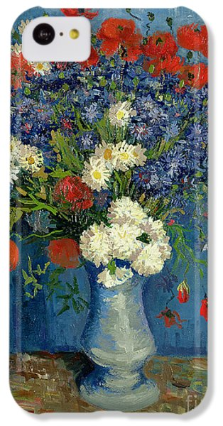 Vase With Cornflowers And Poppies IPhone 5c Case by Vincent Van Gogh