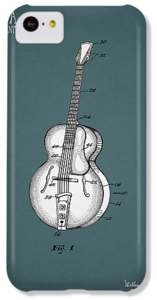 Guitar iPhone 5c Case - Vega Guitar Patent 1949 by Mark Rogan