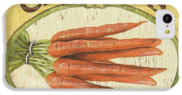 Carrot iPhone 5c Case - Veggie Seed Pack 4 by Debbie DeWitt