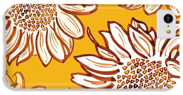 Sunflower iPhone 5c Case - Very Vincent by Sarah Hough