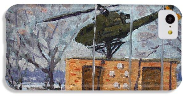 Helicopter iPhone 5c Case - Veterans Memorial Park In Tonawanda by Ylli Haruni