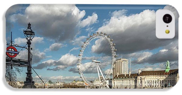 London Eye iPhone 5c Case - Victoria Embankment by Adrian Evans