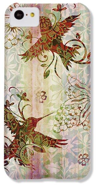 Humming Bird iPhone 5c Case - Victorian Humming Bird Pink by JQ Licensing