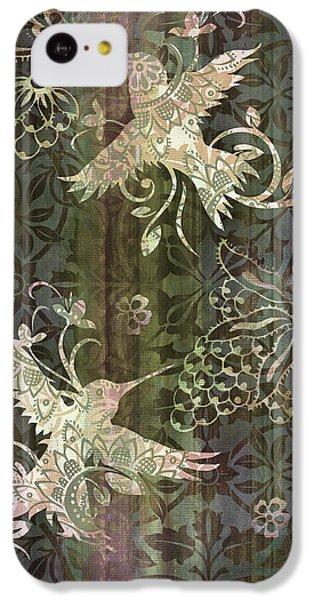Humming Bird iPhone 5c Case - Victorian Hummingbird Green by JQ Licensing