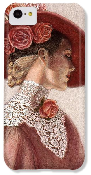 Valentines Day iPhone 5c Case - Victorian Lady In A Rose Hat by Sue Halstenberg