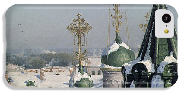 View From A Window Of The Moscow School Of Painting IPhone 5c Case by Sergei Ivanovich Svetoslavsky