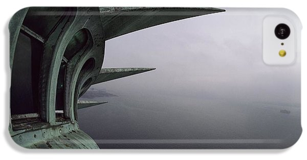 Statue Of Liberty iPhone 5c Case - View Of New York Harbor From The Top by Paul Chesley