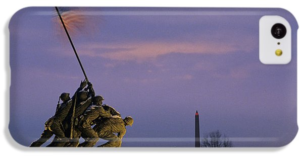 Capitol Building iPhone 5c Case - View Of The Iwo Jima Monument by Kenneth Garrett